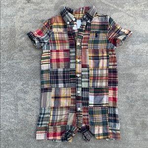 Ralph Lauren 12 month boys plaid one piece